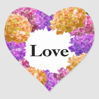 Imagem agradável do Hydrangea da coroa Adesivo Coração