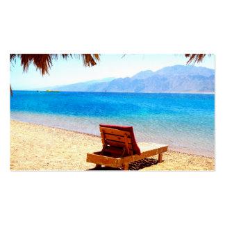 imagem arenosa da água azul da natureza da praia cartão de visita