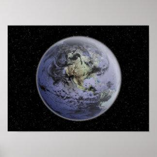 Imagem aumentada Digital da terra completa Posters