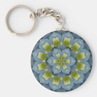 Imagem azul 2 da mandala do Hydrangea Chaveiro