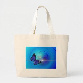 Imagem azul da borboleta bolsas de lona