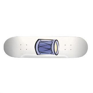 Imagem azul do vintage do abstrato do cilindro da  skate boards