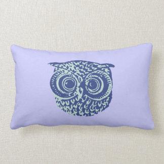 Imagem bonito azul da coruja travesseiro