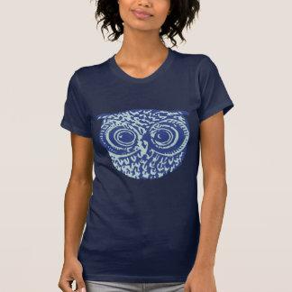 Imagem bonito azul da coruja tshirts