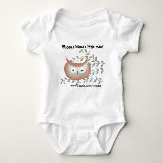 Imagem bonito da coruja da camisa do bebé em Brown Tshirts