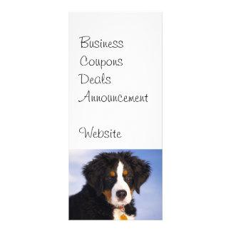 Imagem bonito do filhote de cachorro do cão de 10.16 x 22.86cm panfleto