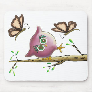 Imagem bonito engraçada da coruja mouse pads