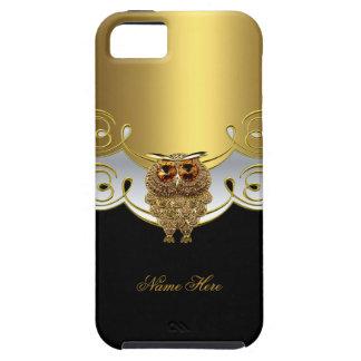 imagem branca preta da jóia da coruja do ouro do capa para iPhone 5