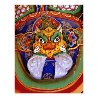 Imagem budista da imagem, templo modelo de panfleto