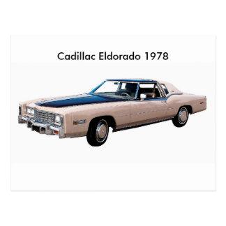 Imagem clássica do carro para o cartão