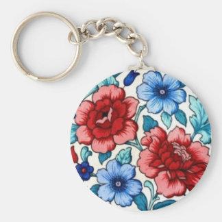 imagem com flores chaveiro