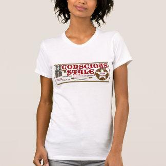 Imagem consciente do estilo das mulheres t-shirts