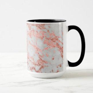 Imagem cor-de-rosa da textura do mármore do brilho caneca