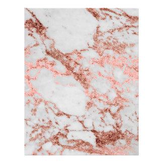 Imagem cor-de-rosa da textura do mármore do brilho papel timbrado
