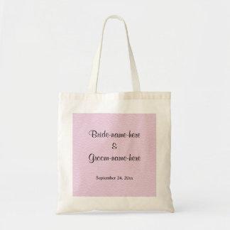 Imagem cor-de-rosa do couro, design Wedding Sacola Tote Budget