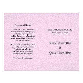 Imagem cor-de-rosa do couro, programa Wedding Flyer 21.59 X 27.94cm
