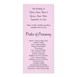 Imagem cor-de-rosa do couro, programa Wedding 10.16 X 22.86cm Panfleto