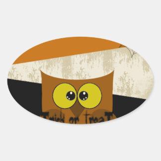Imagem da coruja adesivo oval