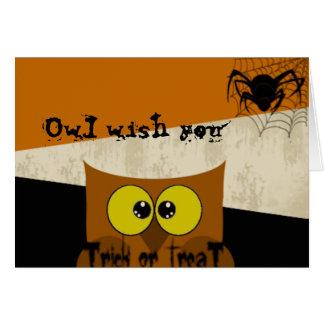 Imagem da coruja cartão comemorativo