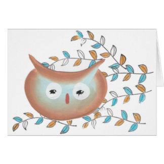 Imagem da coruja do cartão de aniversário
