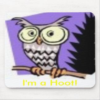 Imagem da coruja, eu sou uma buzina! mouse pad