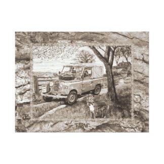 Imagem da FAZENDA das canvas do Sepia Impressão Em Tela