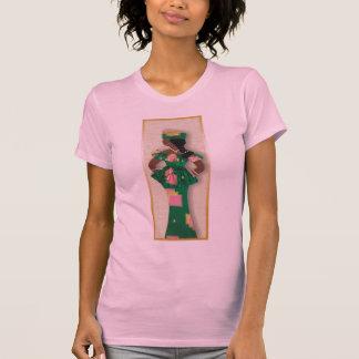 Imagem da fêmea em verde, cor-de-rosa, ouro no cam camiseta