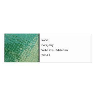 Imagem da foto da tampa plástica verde cartão de visita skinny