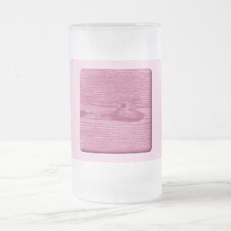 Imagem da madeira cor-de-rosa caneca de cerveja vidro jateado