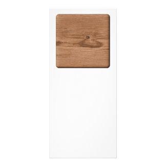 Imagem da madeira de Brown 10.16 X 22.86cm Panfleto