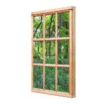 Imagem da opinião da janela do efeito do jardim 3D Impressão De Canvas Esticadas