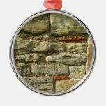 Imagem da parede de pedra enfeite de natal