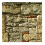 Imagem da parede de pedra fotoescultura