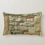 Imagem da parede de pedra travesseiro de decoração