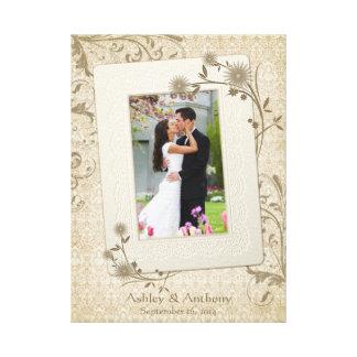 Imagem das canvas do modelo da foto do casamento