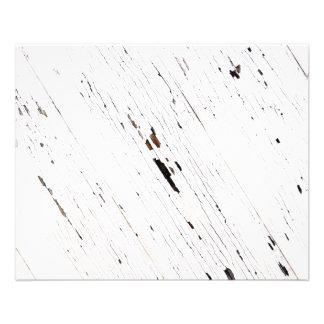 Imagem das pranchas da madeira com pintura lascada flyer 11.43 x 14.22cm