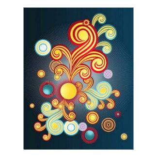 Imagem de Abstrt com bolhas Panfleto Personalizados