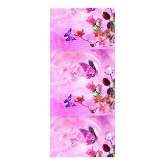 imagem de borboletas e flores convite