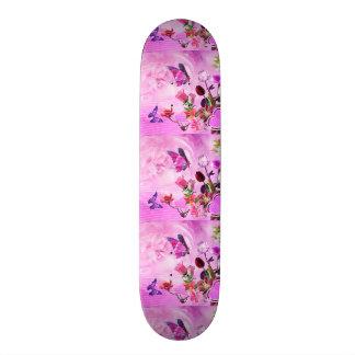 imagem de borboletas e flores skate
