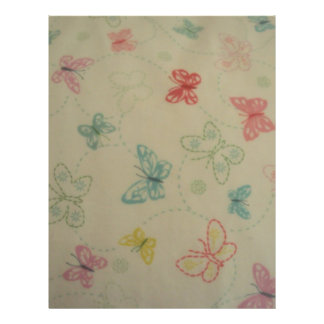 imagem de borboletas flyer 21.59 x 27.94cm