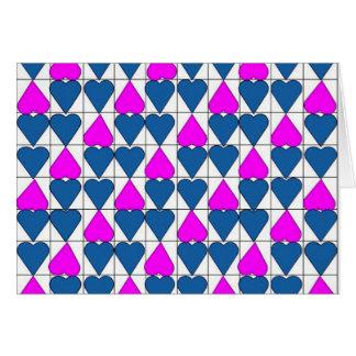 imagem de corações cartão comemorativo