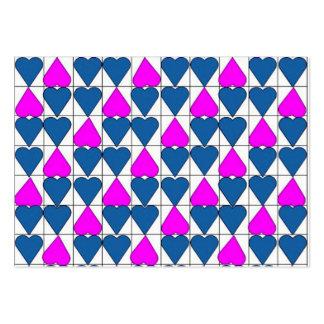 imagem de corações cartões de visita