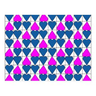 imagem de corações cartão postal