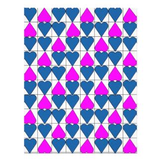 imagem de corações flyer 21.59 x 27.94cm
