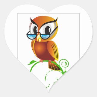 imagem de coruja adesivo coração