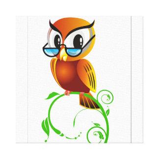 imagem de coruja impressão em tela