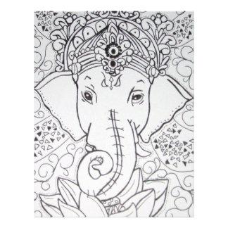 imagem de elefante flyer 21.59 x 27.94cm