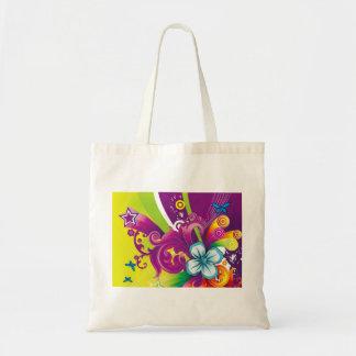 imagem de flor e borboleta bolsas para compras