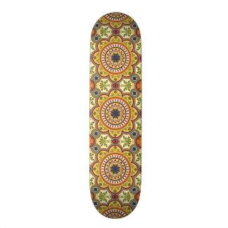 imagem de flor em moisaico shape de skate 18,1cm