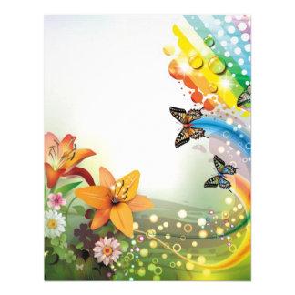 imagem de flores e borboletas convite personalizados